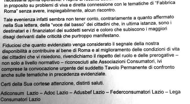 Lettera delle associazioni dei consumatori: «Collaboriamo per la rinascita di Roma»