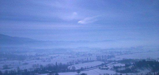 La piana reatina sotto la neve