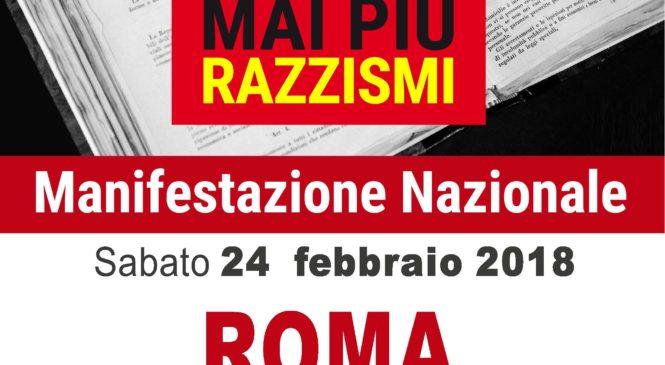 Intolleranze e violenze. Tutti a Roma per dire no